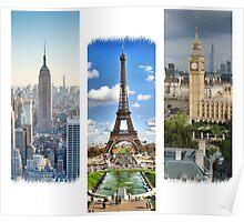 Three Beautiful Cities Poster