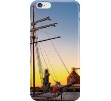 Sunset, sails and silos iPhone Case/Skin