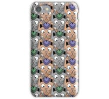 Seamless pattern with cats iPhone Case/Skin