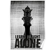 LEARN TO FIGHT ALONE Poster