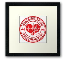 World Health Day 2017 Gifts Framed Print