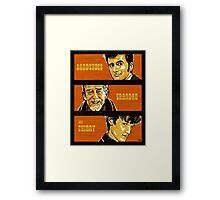 Sandshoes, Grandad & Chinny Framed Print