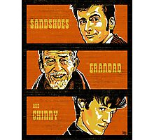 Sandshoes, Grandad & Chinny Photographic Print