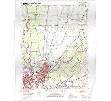 USGS TOPO Map California CA Yuba City 102103 1952 24000 geo Poster