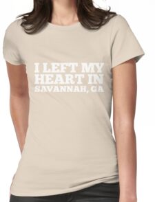 I Left My Heart In Savannah, GA Love Native T-Shirt Womens Fitted T-Shirt