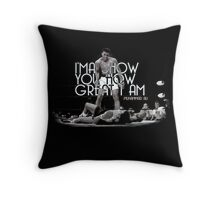 Muhammad Ali Quote - I will show you how great I am  Throw Pillow