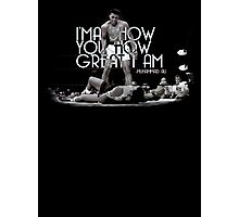 Muhammad Ali Quote - I will show you how great I am  Photographic Print