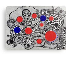 Flying Dots Canvas Print
