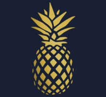 Golden Pineapple One Piece - Long Sleeve