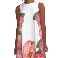 Spring Peonies Pattern A-Line Dress