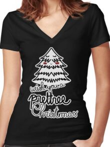 Prettree Xmas Women's Fitted V-Neck T-Shirt