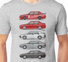 Stack of Alfa Romeo 75 Tipo 161, 162B Milanos  Unisex T-Shirt