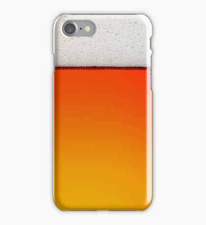 Beer with froth iPhone Case/Skin