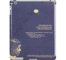 """Dinah Jams ep back cover 7"""" 50's with microphone iPad Case/Skin"""