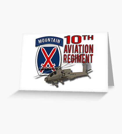 10th Aviation Regiment Apache Greeting Card
