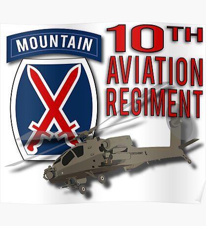 10th Aviation Regiment Apache Poster