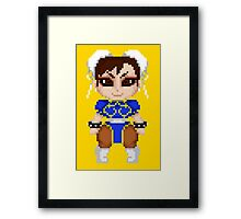 Street Fighter Pixel Cuties - Chun-Li Framed Print