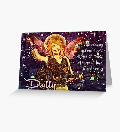 Christmas Angel Dolly Parton  Greeting Card