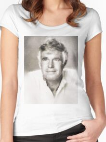 George Peppard, Actor Women's Fitted Scoop T-Shirt