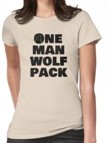 One man wolf pack Womens Fitted T-Shirt