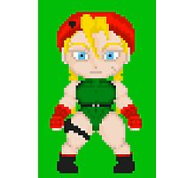 Street Fighter Pixel Cuties - Cammy White Photographic Print
