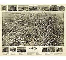 Aerial View of Bristol, Virginia/Tennessee (1912) Photographic Print