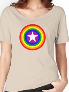 Pride Shields - Rainbow Women's Relaxed Fit T-Shirt