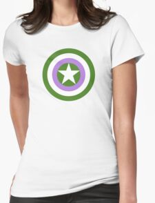 Pride Shields - Genderqueer Womens Fitted T-Shirt