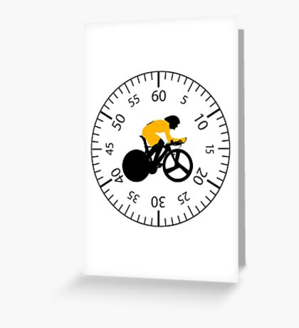 Time Trial - Race Against the Clock Greeting Card
