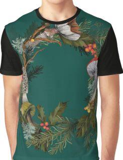 Mushroom Forest Wreath Graphic T-Shirt