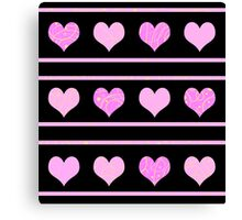 Pink harts pattern 2 Canvas Print