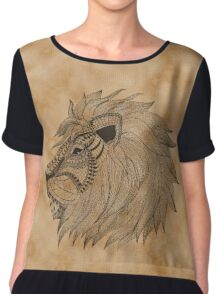 Lion Zentagle Vintage Art Chiffon Top