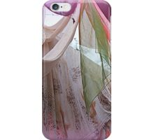 drapery of colored silks iPhone Case/Skin