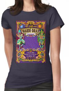 Mardi Gras Carnival Poster Womens Fitted T-Shirt