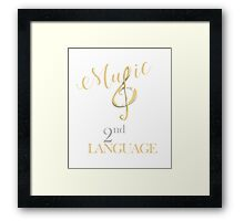 Music is My 2nd Language T-shirt Framed Print