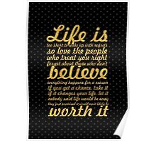 Life is to short... Life Motivational Quote Poster
