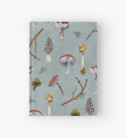 Mushroom Forest Collecting Party Hardcover Journal