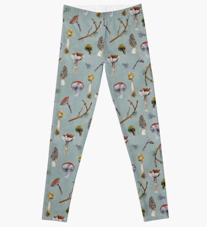 Mushroom Forest Collecting Party Leggings