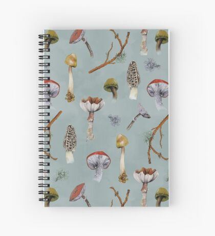 Mushroom Forest Collecting Party Spiral Notebook