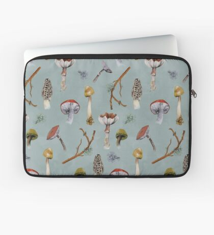 Mushroom Forest Collecting Party Laptop Sleeve