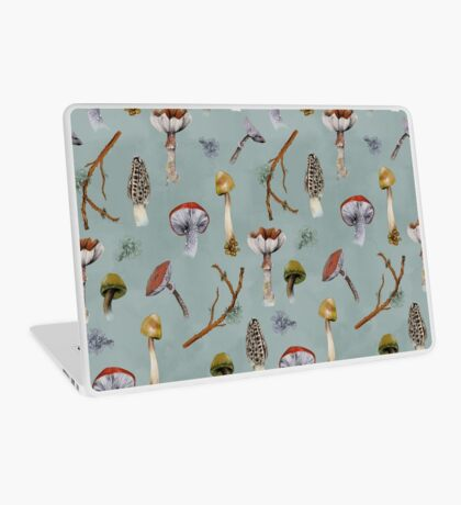 Mushroom Forest Collecting Party Laptop Skin