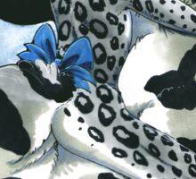 Snow Leopard Boy Sticker