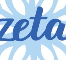 Sorority Snowflake Zeta Sticker