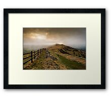 Path from Mam Tor Framed Print