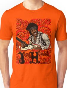 Jimi Hendrix no background Unisex T-Shirt