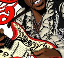 Jimi Hendrix no background Sticker