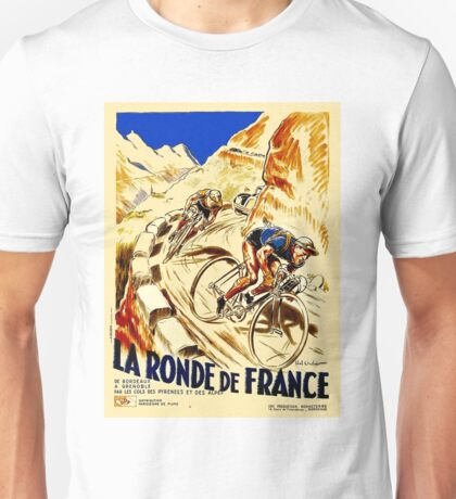 THE TOUR DE FRANCE; Vintage Bike Racing  Unisex T-Shirt