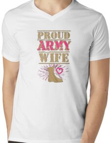 proud army wife - T-shirts & Hoodies Mens V-Neck T-Shirt
