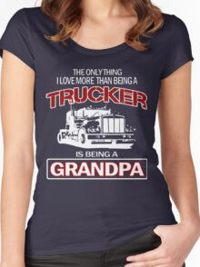 Trucker Grandpa T-Shirt Women's Fitted Scoop T-Shirt