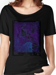 USGS TOPO Map Arkansas AR Sparkman NW 259647 1971 24000 Inverted Women's Relaxed Fit T-Shirt
